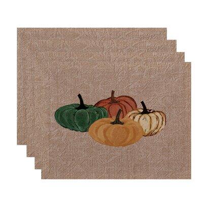 Miller Hand Towel Paper Mache Pumpkins Geometric Print Placemat