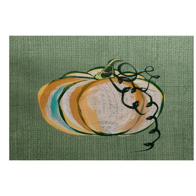 Miller Hand Towel Green Indoor/Outdoor Area Rug