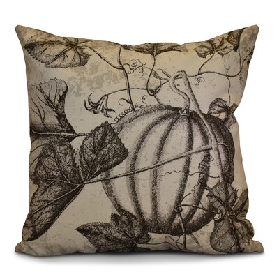 Miller Hand Towel Antique Pumpkin Floral Throw Pillow Size: 16 H x 16 W x 2 D