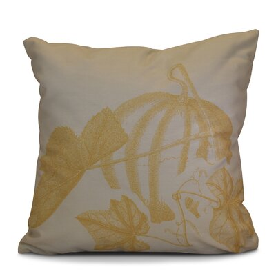 Miller Hand Towel Stagecoach Floral Throw Pillow Size: 18 H x 18 W x 2 D, Color: Gold