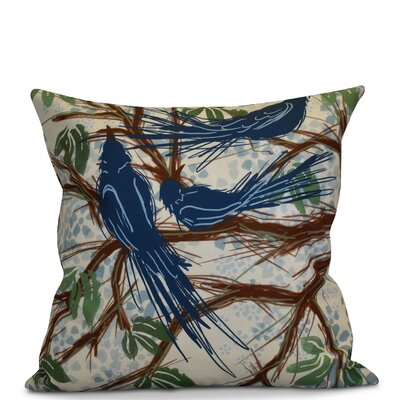 Miller Floral Throw Pillow Size: 18 H x 18 W x 2 D