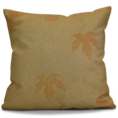 Miller Dotted Leaves Floral Euro Pillow Color: Gold