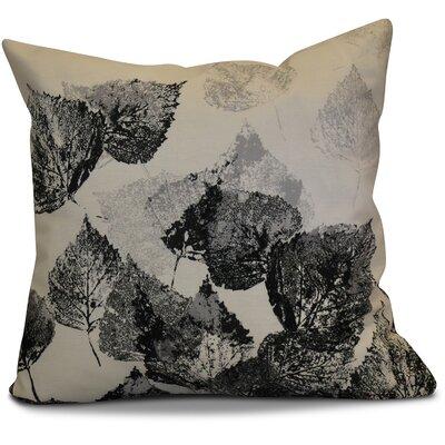 Miller Memories Floral Throw Pillow Size: 16 H x 16 W x 2 D, Color: Black