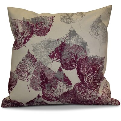 Miller Memories Floral Throw Pillow Size: 20 H x 20 W x 2 D, Color: Purple