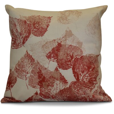 Miller Memories Floral Throw Pillow Size: 16 H x 16 W x 2 D, Color: Red