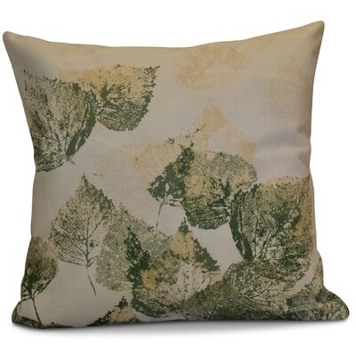 Miller Memories Floral Throw Pillow Size: 20 H x 20 W x 2 D, Color: Green