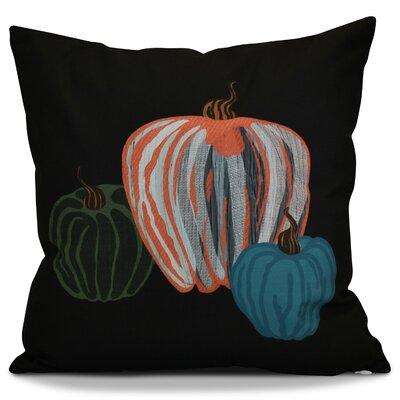 Miller Pumpkin Spice Geometric Outdoor Throw Pillow Color: Black, Size: 20 H x 20 W x 2 D
