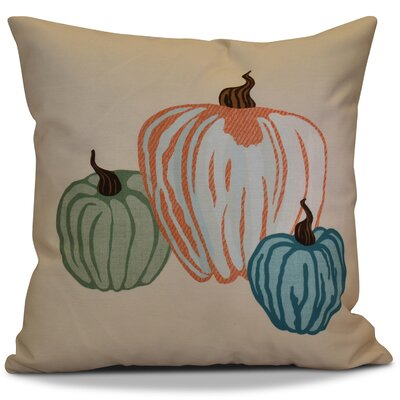 Miller Pumpkin Spice Geometric Outdoor Throw Pillow