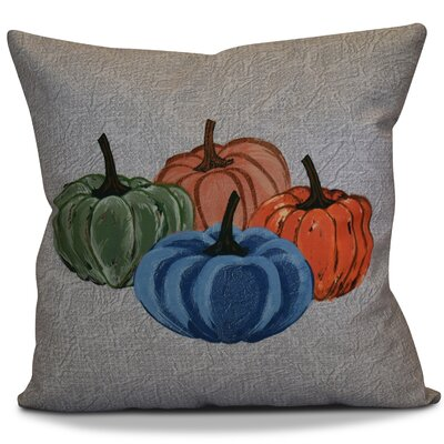 Miller Paper Mache Pumpkins Geometric Outdoor Throw Pillow