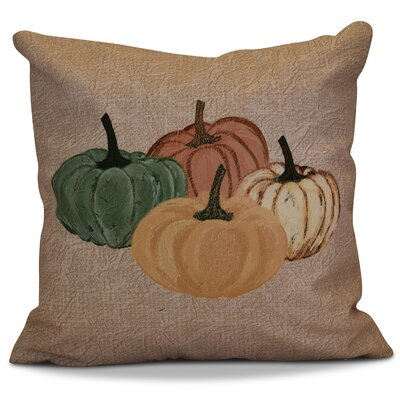 Miller Paper Mache Pumpkins Geometric Outdoor Throw Pillow Size: 16