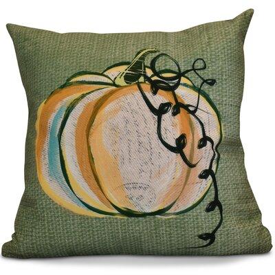Miller Pumpkin Fest Geometric Euro Pillow Color: Green