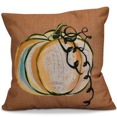 Miller Pumpkin Fest Geometric Euro Pillow Color: Rust