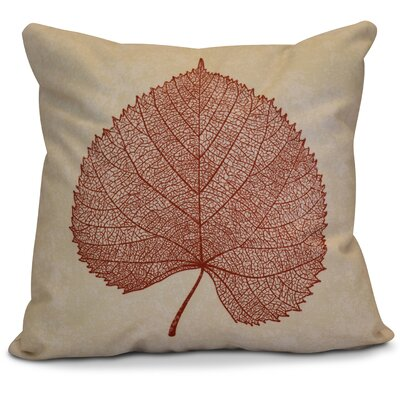 Miller Leaf Study Outdoor Throw Pillow Size: 16 H x 16 W x 2 D, Color: Dark Rust