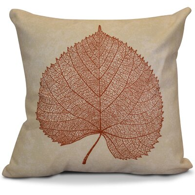 Miller Leaf Study Outdoor Throw Pillow Size: 16 H x 16 W x 2 D, Color: Rust
