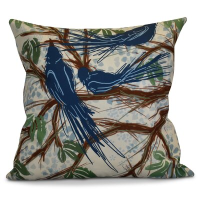 Miller Floral Outdoor Throw Pillow Size: 18 H x 18 W x 2 D