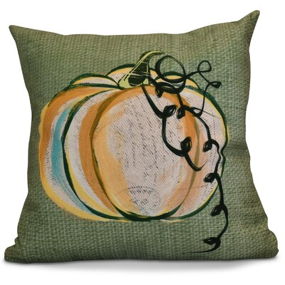 Miller Pumpkin Fest Geometric Throw Pillow Color: Green, Size: 18 H x 18 W x 2 D