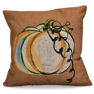 Miller Pumpkin Fest Throw Pillow Size: 16 H x 16 W x 2 D, Color: Rust