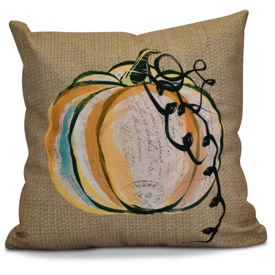 Miller Pumpkin Fest Geometric Throw Pillow Size: 16 H x 16 W x 2 D, Color: Taupe