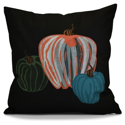 Miller Pumpkin Spice Geometric Throw Pillow Color: Black, Size: 18 H x 18 W x 2 D