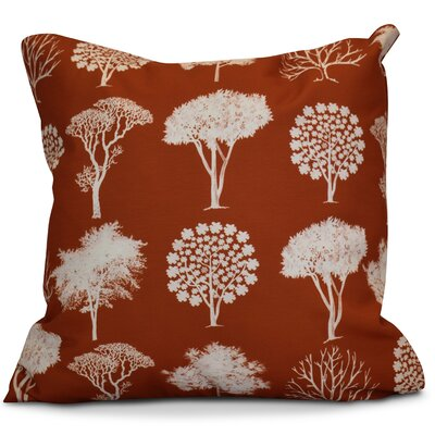 Miller Field of Trees Floral Euro Pillow Color: Rust