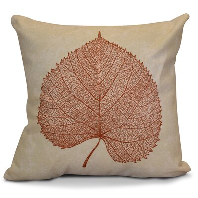 Miller Leaf Study Floral Throw Pillow Size: 20 H x 20 W x 2 D, Color: Rust