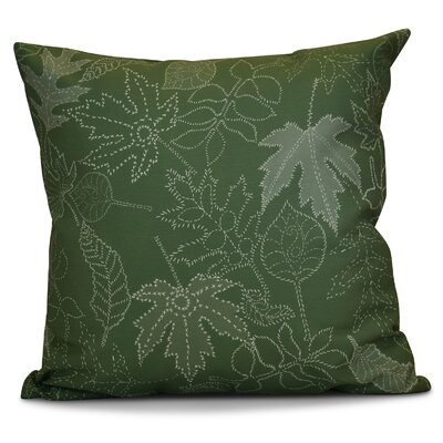 Miller Dotted Leaves Floral Throw Pillow Size: 18 H x 18 W x 2 D, Color: Green