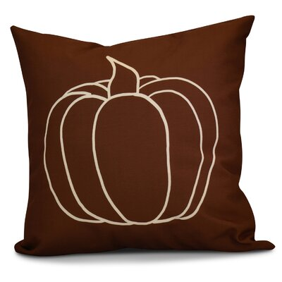 Miller Pumpkin Pie Geometric Outdoor Throw Pillow Color: Brown, Size: 20 H x 20 W x 2 D
