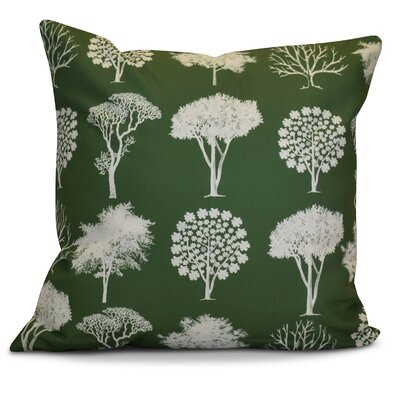 Miller Field of Trees Floral Throw Pillow Size: 20 H x 20 W x 2 D, Color: Green