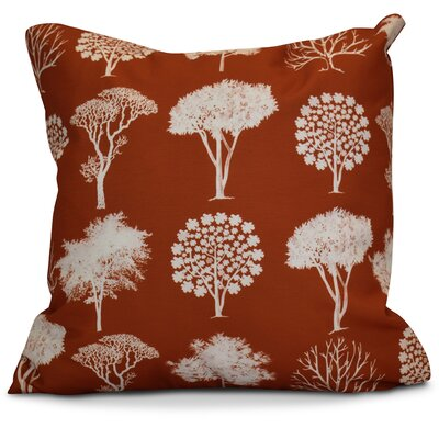Miller Field of Trees Floral Throw Pillow Size: 16