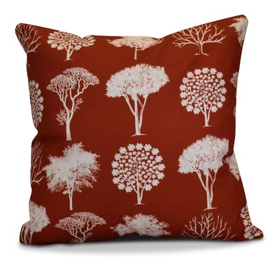 Miller Field of Trees Floral Throw Pillow Size: 20 H x 20 W x 2 D, Color: Dark Rust