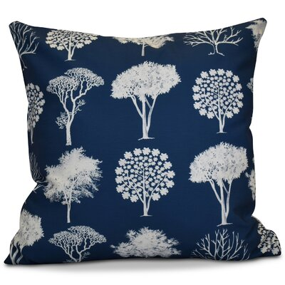 Miller Field of Trees Floral Outdoor Throw Pillow Color: Blue, Size: 18 H x 18 W x 2 D
