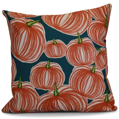 Miller Pumpkins-A-Plenty Geometric Outdoor Throw Pillow Color: Teal, Size: 20 H x 20 W x 2 D