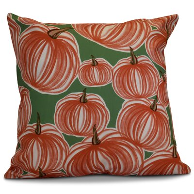 Miller Pumpkins-A-Plenty Geometric Outdoor Throw Pillow Size: 20 H x 20 W x 2 D, Color: Green