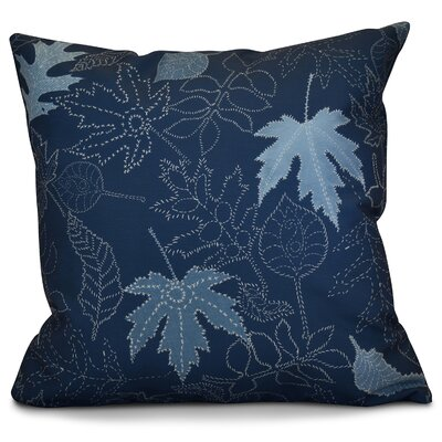 Miller Dotted Leaves Floral Outdoor Throw Pillow Color: Blue, Size: 18 H x 18 W x 2 D