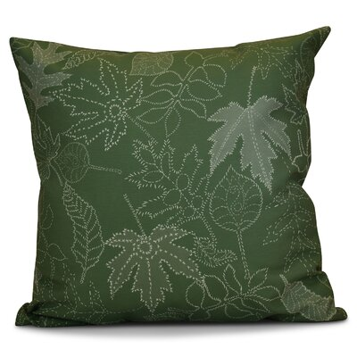 Miller Dotted Leaves Floral Outdoor Throw Pillow Size: 16 H x 16 W x 2 D, Color: Green