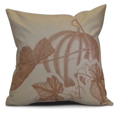 Miller Stagecoach Floral Outdoor Throw Pillow Size: 18 H x 18 W x 2 D, Color: Taupe