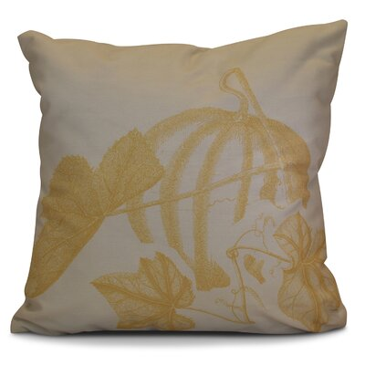 Miller Stagecoach Floral Outdoor Throw Pillow Size: 16 H x 16 W x 2 D, Color: Gold