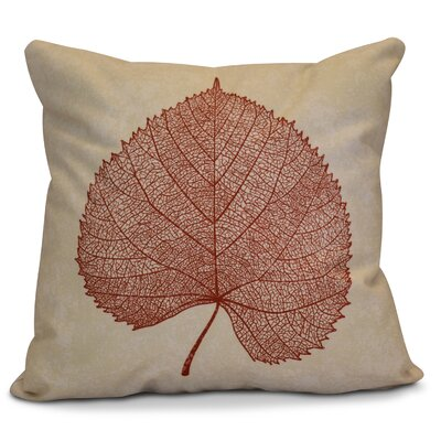 Miller Leaf Study Floral Euro Pillow Color: Dark Rust