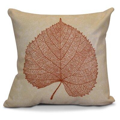 Miller Leaf Study Floral Euro Pillow Color: Rust