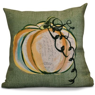 Miller Pumpkin Fest Geometric Outdoor Throw Pillow Size: 16 H x 16 W x 2 D, Color: Green