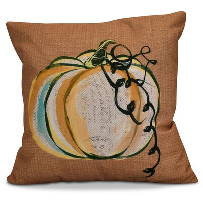 Miller Pumpkin Fest Geometric Outdoor Throw Pillow Size: 16