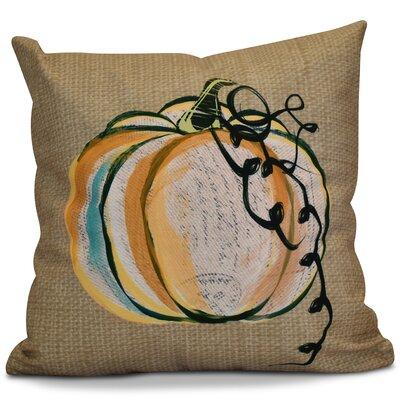 Miller Pumpkin Fest Geometric Outdoor Throw Pillow Size: 18 H x 18 W x 2 D, Color: Taupe