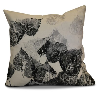 Miller Memories Floral Euro Pillow Color: Black
