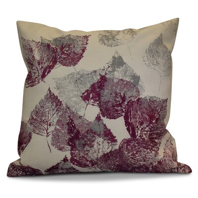 Miller Memories Floral Euro Pillow Color: Purple
