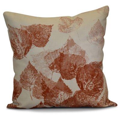 Miller Memories Floral Euro Pillow Color: Rust