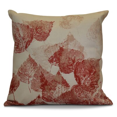 Miller Memories Floral Euro Pillow Color: Red