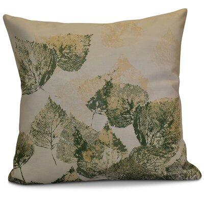 Miller Memories Floral Euro Pillow Color: Green