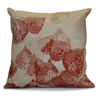 Miller Memories Floral Outdoor Throw Pillow Color: Red, Size: 20 H x 20 W x 2 D