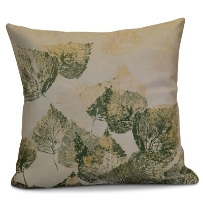 Miller Memories Floral Outdoor Throw Pillow Size: 20 H x 20 W x 2 D, Color: Green