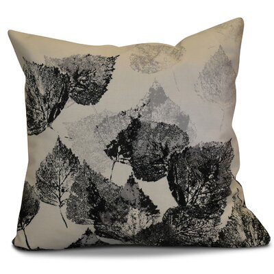 Miller Memories Floral Outdoor Throw Pillow Size: 20 H x 20 W x 2 D, Color: Black